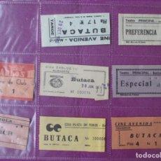 Cine: LOTE 23 ENTRADAS CINE Y TEATRO CINE CARLOS III ALBACETE CINE AVENIDA MADRID TEATRO MONTBLANCH. Lote 289264028