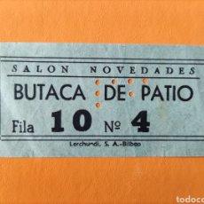 Cine: ENTRADA SALÓN NOVEDADES- BUTACA DE PATIO. Lote 289457973