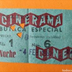 Cine: ENTRADA CINERAMA- NOCHE. Lote 289458248