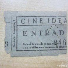 Cinema: ENTRADA CINE IDEAL DE MADRID AÑOS 40. Lote 292065973