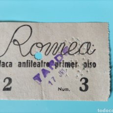 Cine: ANTIGUA ENTRADA- ANFITEATRO ROMEA. Lote 295823018