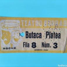 Cine: ANTIGUA ENTRADA TEATRO BORRAS- FALGUERAS- BUTACA PLATEA. Lote 295823448