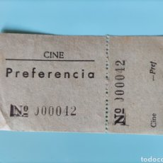 Cine: ANTIGUA ENTRADA- CINE PREFERENCIA. Lote 295824028