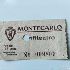 Cine: ENTRADA ANFITEATRO MONTECARLO. Lote 295828288