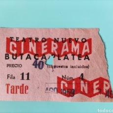 Cine: ENTRADA ANTIGUA- TEATRO NUEVO CINERAMA. Lote 295835463