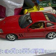 Coches a escala: FERRARI MARANELLO 550 DE 1996 DE LA CASA BURAGO. Lote 19047264
