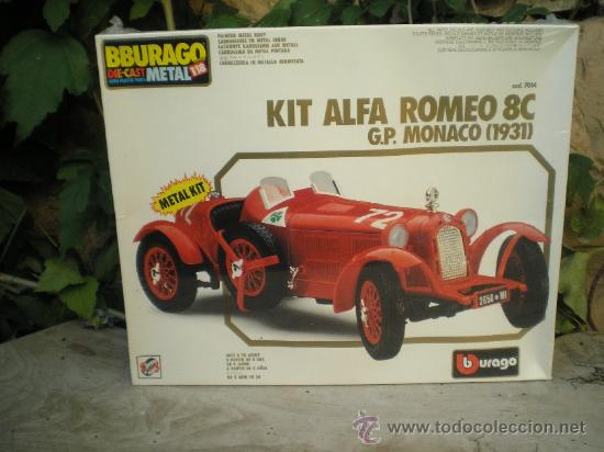 KIT PARA MONTAR DE BBURAGO A 1/18 - ALFA ROMEO 8C G.P. MONACO 1931 (Juguetes - Coches a Escala 1:18)