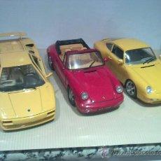 Coches a escala: PORCHE 911 CARRERA,PORCHE 911 CABRIO,LAMBORGHINI DIABLO ESCALA 1/18. Lote 28481251