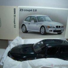 Coches a escala: BMW Z3 COUPE 2.8 DE UT MODELS ( MINICHAMPS ) COLOR VERDE ESCALA 1,18 NUEVO EN SU CAJA. Lote 39639188