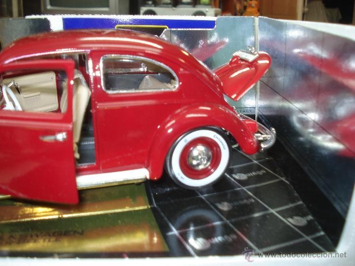 Coches a escala: Volkswagen Beetle-Kafer 1.957 esc.1/18 de Burago - Foto 3 - 40930761