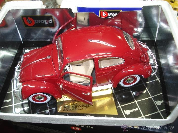 Coches a escala: Volkswagen Beetle-Kafer 1.957 esc.1/18 de Burago - Foto 4 - 40930761