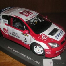 Coches a escala: TOYOTA COROLLA TROPHËE ANDROS 2006 ALAINPROST 1:18 SOLIDO. Lote 41543710
