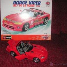 Coches a escala: COCHE DODGE VIPER RT/10 LE MANS 1992 ESCALA 1:18 BURAGO . Lote 42244250