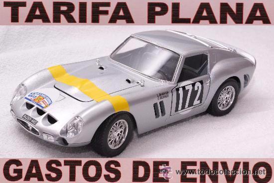 FERRARI 250 GTO RALLYE TOUR DE FRANCE DEL 1964 1:18 DE BURAGO TAL Y COMO SE VE SIN CAJA (Juguetes - Coches a Escala 1:18)