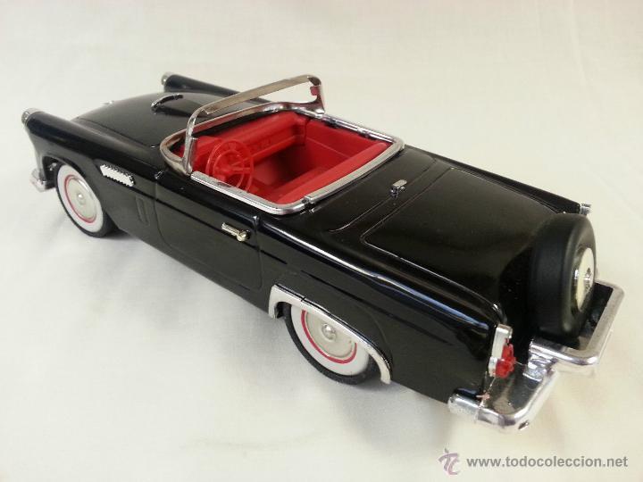 Coches a escala: MAGNIFICO Y ESCASO Negro ford Thunderbird Convertible 1955 fricción de hojalata juguete coche 28 cm - Foto 4 - 52835057