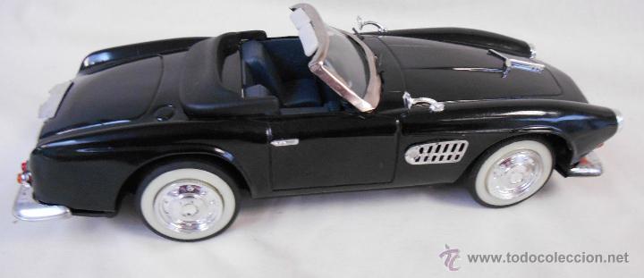 Coches a escala: BMW Convertible fricción de hojalata juguete coche c1960s 28 cm PERFECTO MADE UK. - Foto 2 - 125720118