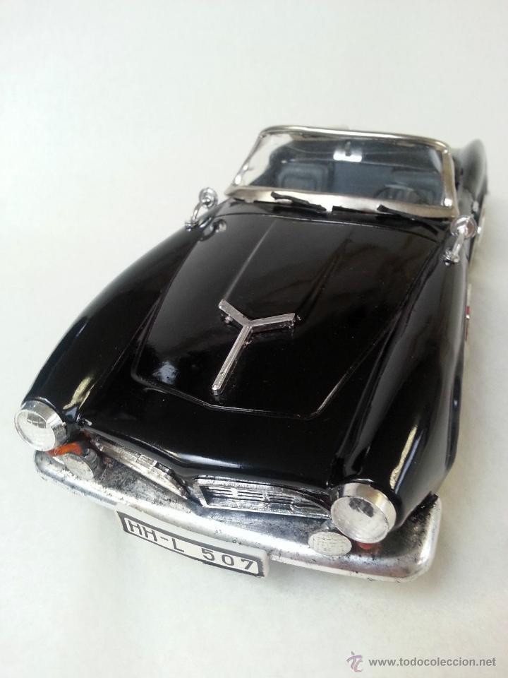 Coches a escala: BMW Convertible fricción de hojalata juguete coche c1960s 28 cm PERFECTO MADE UK. - Foto 4 - 125720118