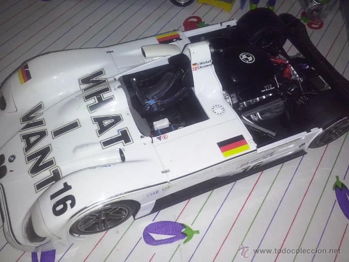 KYOSHO BMW V12 LMR COCHE 1/18 SUPER DEPORTIVO ESTILO LEMANS - LOGOS WHAT I WANT #16 BANDERA ALEMANIA (Juguetes - Coches a Escala 1:18)