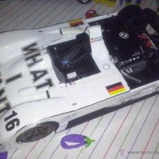 Coches a escala: KYOSHO BMW V12 LMR COCHE 1/18 SUPER DEPORTIVO ESTILO LEMANS - LOGOS WHAT I WANT #16 BANDERA ALEMANIA. Lote 53850503