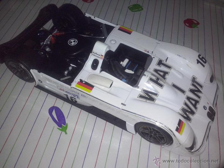 Coches a escala: Kyosho BMW v12 LMR coche 1/18 super deportivo estilo LEMANS - Logos WHAT I WANT #16 bandera ALEMANIA - Foto 2 - 53850503
