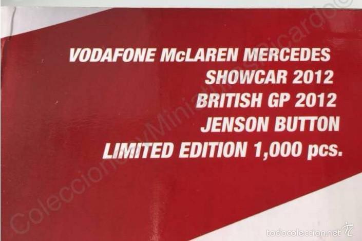 Coches a escala: Coche VODAFONE MCLAREN MERCEDES Showcar 1:18 - JENSON BUTTON - F1 Fórmula 1 - Minichamps 533 121873 - Foto 3 - 58067506