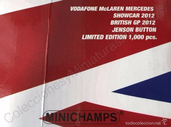 Coches a escala: Coche VODAFONE MCLAREN MERCEDES Showcar 1:18 - JENSON BUTTON - F1 Fórmula 1 - Minichamps 533 121873 - Foto 4 - 58067506