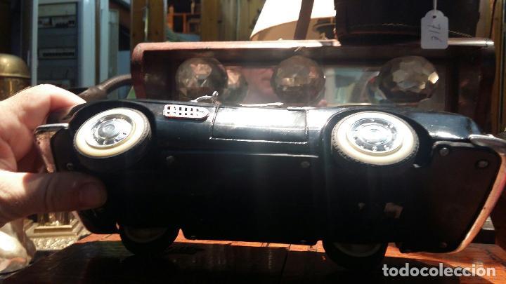 Coches a escala: BMW Convertible fricción de hojalata juguete coche c1960s 28 cm PERFECTO MADE UK. - Foto 7 - 125720118