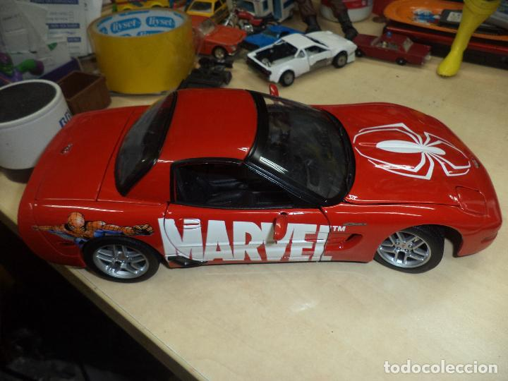 Coches a escala: Chevrolet Corvette 2001.Spiderman Marvel Team.Esc.1/18 TM. MARVEL Maisto- 2003. - Foto 2 - 62696800