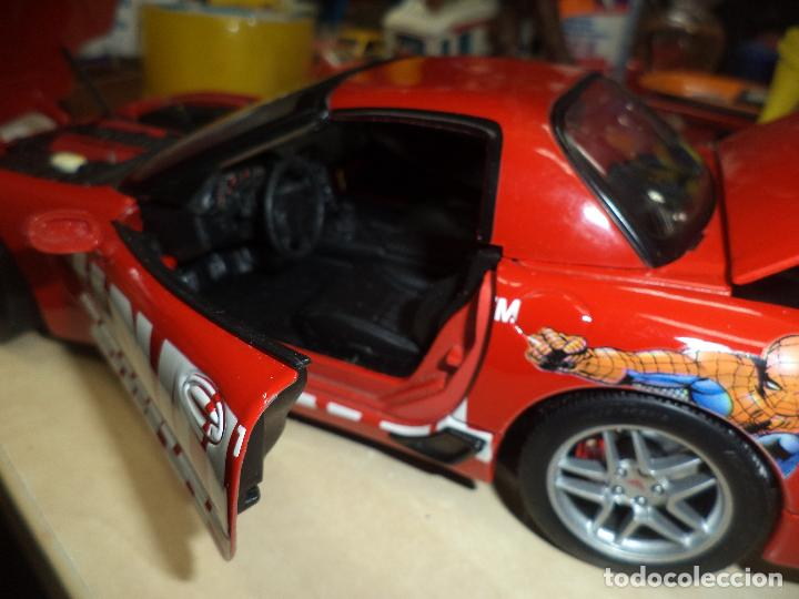 Coches a escala: Chevrolet Corvette 2001.Spiderman Marvel Team.Esc.1/18 TM. MARVEL Maisto- 2003. - Foto 7 - 62696800