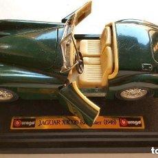 Coches a escala: CLASICO JAGUAR XK 120 ROADSTER 1948 BURAGO . Lote 86578164