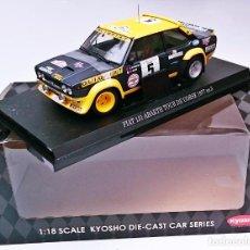 Coches a escala: KYOSHO FIAT 131 ABARTH N 5 TOUR DE CORSE 1977 - B DARNICHE BY A MAHE - NUEVO. Lote 55915822
