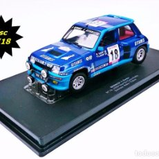 Coches a escala: UNIVERSAL HOBBIES RENAULT 5 TURBO N18 1980 TOUR DE CORSE RALLY BRUNO SABY - TILBER. Lote 55909388