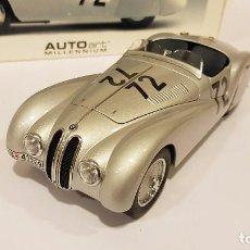 Coches a escala: BMW 328 MILLE MIGLIA STREAMLINE ROADSTER 1940 Nº 72 ESCALA 1/18 DE AUTOART. Lote 98888979