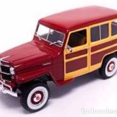 Coches a escala: JEEP WILLYS STATION WAGON 1955 ESCALA 1/18 DE LUCKY DIE CAST. Lote 136726709