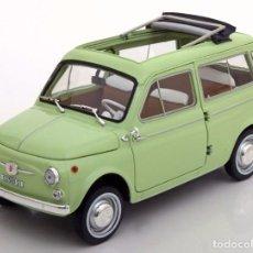 Coches a escala: FIAT 500 GIARDINIERA 1962 ESCALA 1/18 DE NOREV. Lote 103657483