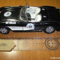 Coches a escala: CHEVROLET CORVETTE 1957 BURAGO 1/18. MUY BUEN ESTADO. Lote 109506607