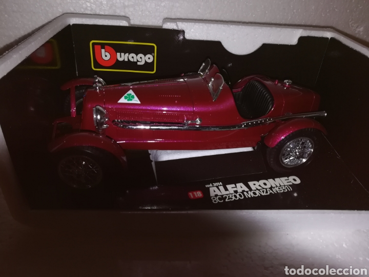 Coches a escala: Coche coleccion Alfa Romeo Monza 1931 de la casa burago - Foto 2 - 112021346