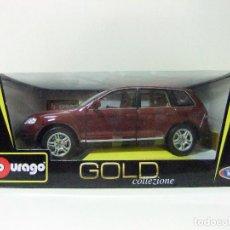Coches a escala: VOLKSWAGEN TOUAREG - BURAGO BBURAGO GOLD COLLEZIONE ESCALA 1:18 - COCHE MINIATURA VW DIE CAST METAL. Lote 119680367