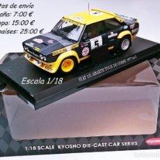 Coches a escala: KYOSHO TOUR DE CORSE 1977 - FIAT 131 ABARTH N 5 - B DARNICHE - A MAHE - ÚLTIMO. Lote 130936988