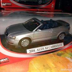 Coches a escala: MONDO MOTORS - PLATINUN COLLECTION 2004 AUDI A4 CABRIOLET 1/18. Lote 133868546