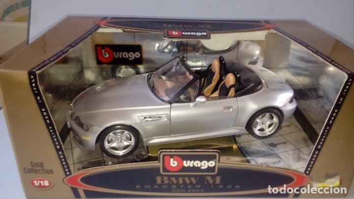 Coches a escala: BBurago Gold - BMW M Roadster Convertible (1996, modelo a escala 1/18, automóvil de fundición a pres - Foto 8 - 134092070