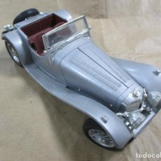 Coches a escala: ANTIGUO COCHE DE METAL. JAGUAR SS 100 1937. BURAGO. MADE IN ITALY 3006. 23 CM. Lote 137966590