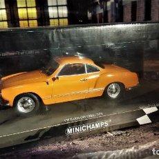 Coches a escala: VW KARMANN GHIA COUPÉ DE 1970 SERIE LIMITADA DE MINICHAMPS. Lote 142398622