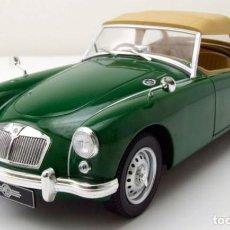 Coches a escala: MG A MKI TWIN CAM CLOSED SOFT TOP 1959 ESCALA 1/18 DE TRIPLE 9. Lote 147045650