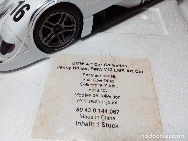 Coches a escala: COCHE BMW V12 LMR. ART CARS. DE KYOSHO AÑO 2000 1/18 (IMPECABLE) EDICIÓN LIMITADA Jenny Holzer - Foto 36 - 148860974