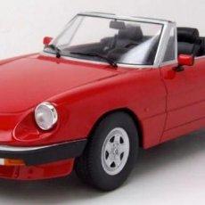 Carros em escala: ALFA ROMEO SPIDER 3 SERIES 2 SOFT TOP 1986 ESCALA 1/18 DE KK-SCALE MODELS. Lote 162040078