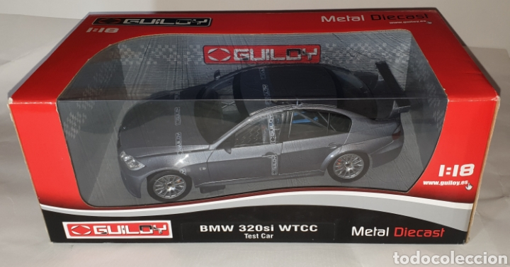 1:18 BMW 320SI WTCC TEST CAR-GRIS- GUILOY (Juguetes - Coches a Escala 1:18)
