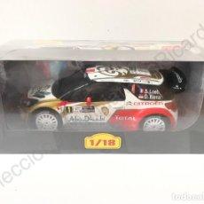 Coches a escala: COCHE DE RALLY CITROEN DS3 / DS 3 WRC - 2013 - S. LOEB (1:18) IXO, ALTAYA. Lote 170022713