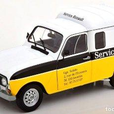 Carros em escala: RENAULT 4L F4 SERVICIO RENAULT ESCALA 1/18 DE SOLIDO. Lote 203242185