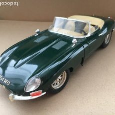 Coches a escala: COCHE JAGUAR E 1961 VERDE BBURAGO ESCALA 1:18 - MADE IN ITALY - ORIGINAL BURAGO. Lote 183576405